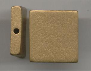 Rectangulo 30*8mm oro viejo