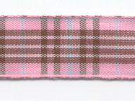 Tartan escoces 15mm rosa