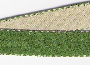 Saten bicolor 10mm verde/verdeclaro