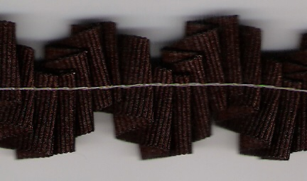 Grosgrain plisado 16mm marron