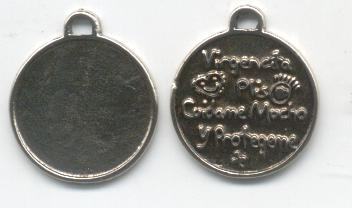 Base medalla 25mm virgencita plis(22mm) P