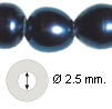 Perlas natural black 7*11mm agujero 2.5mm (1681)  HILO 40CM 40UNIDADES.